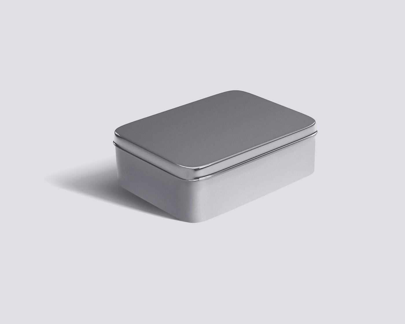 Metal Box Mockup Tempate