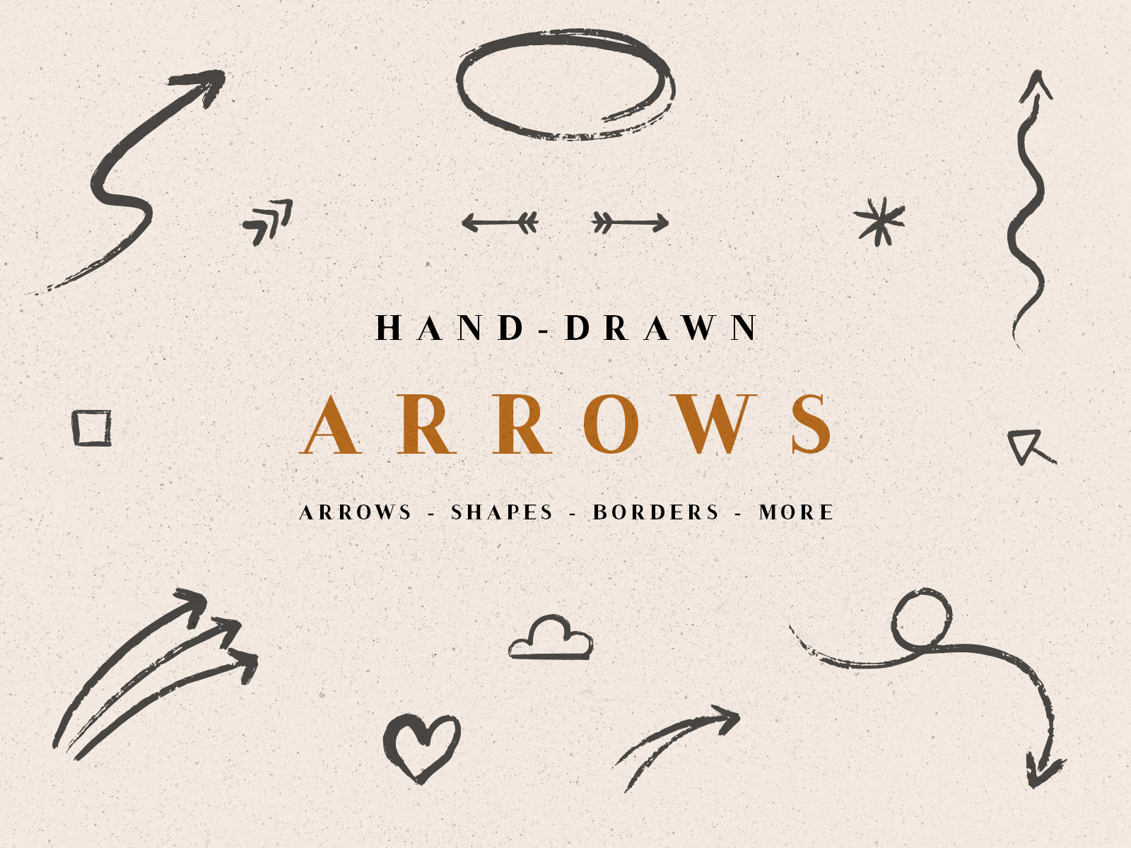 Handdrawn Arrows And Shapes