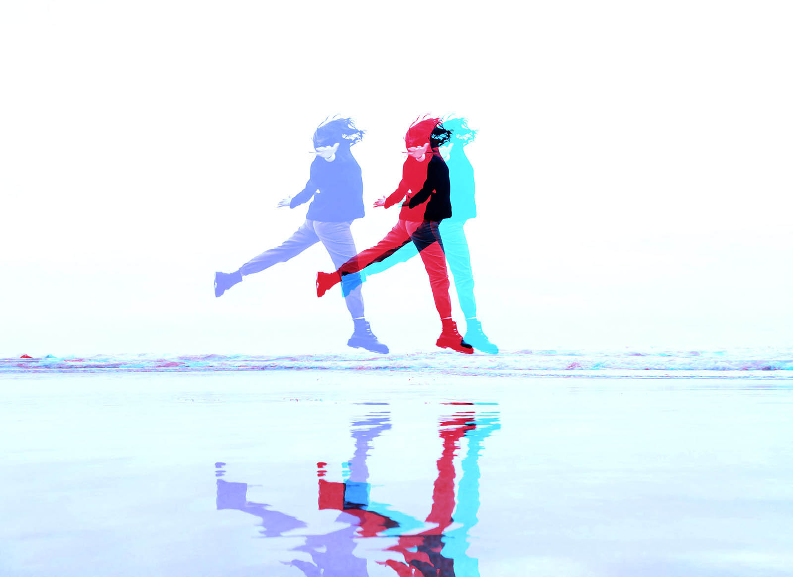 Split Color Glitch Effect