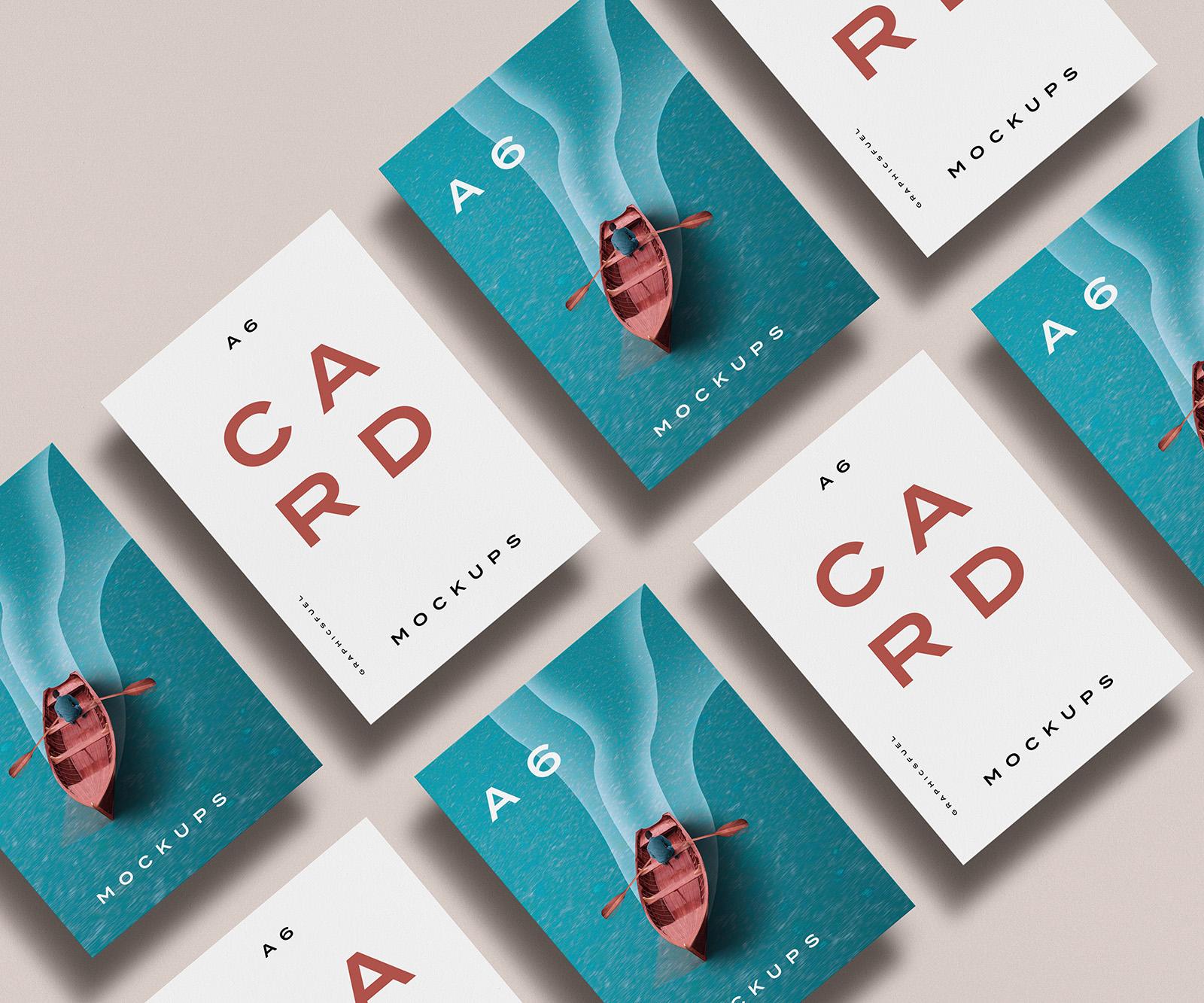 Free A6 Card Mockup Templates