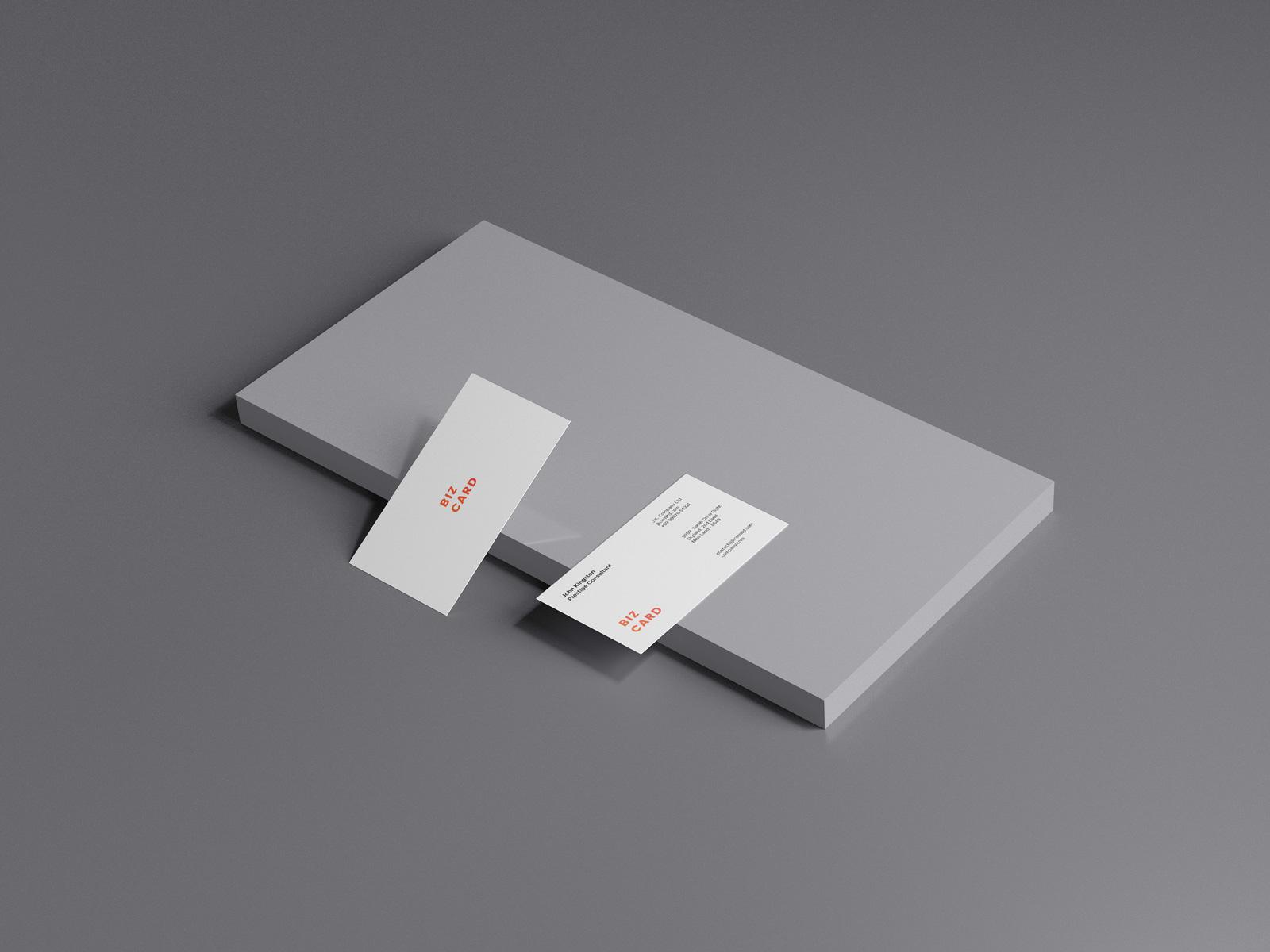 Business Card Mockup Scene