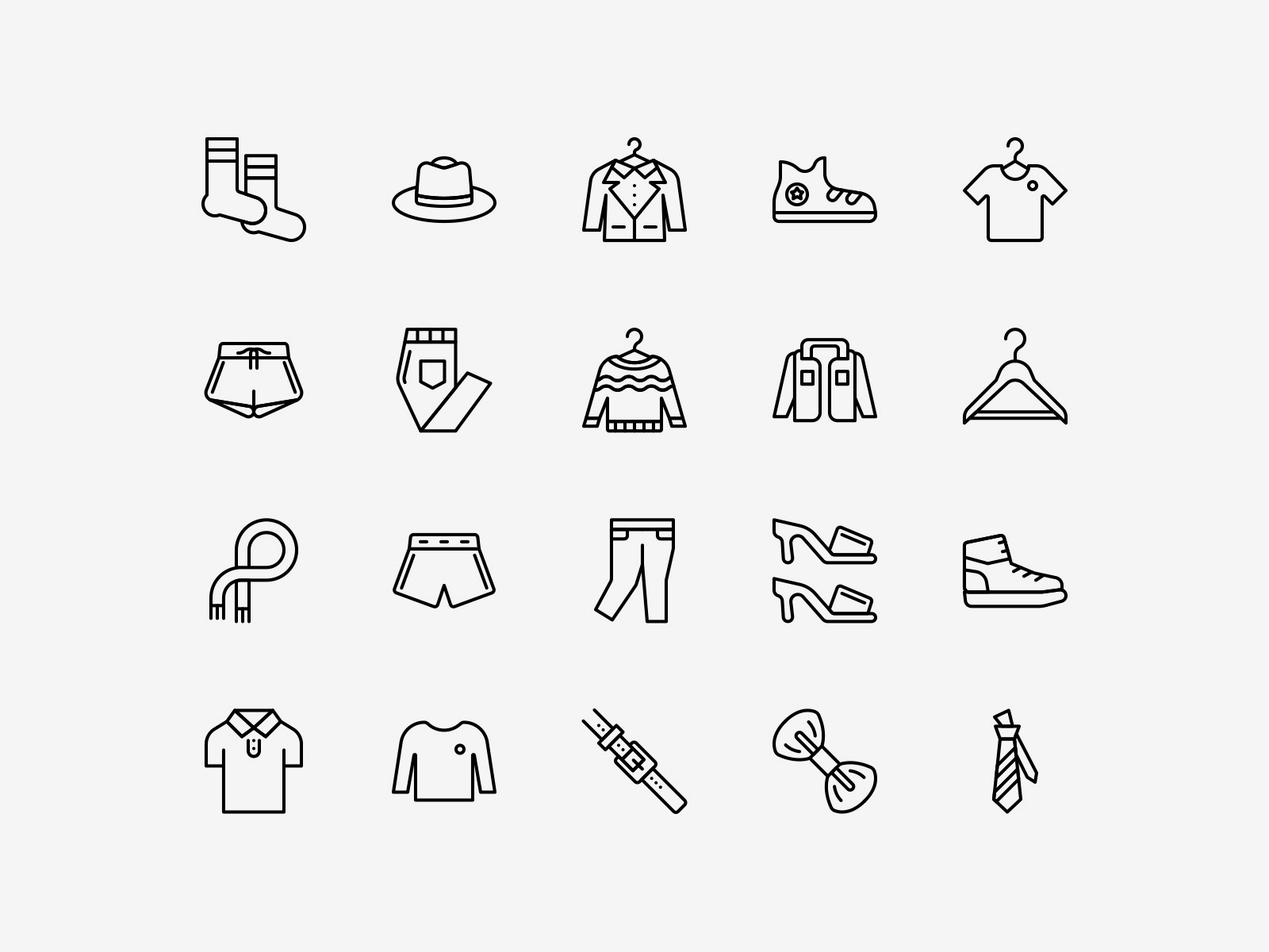 Vector Clothing Icons Line Pack