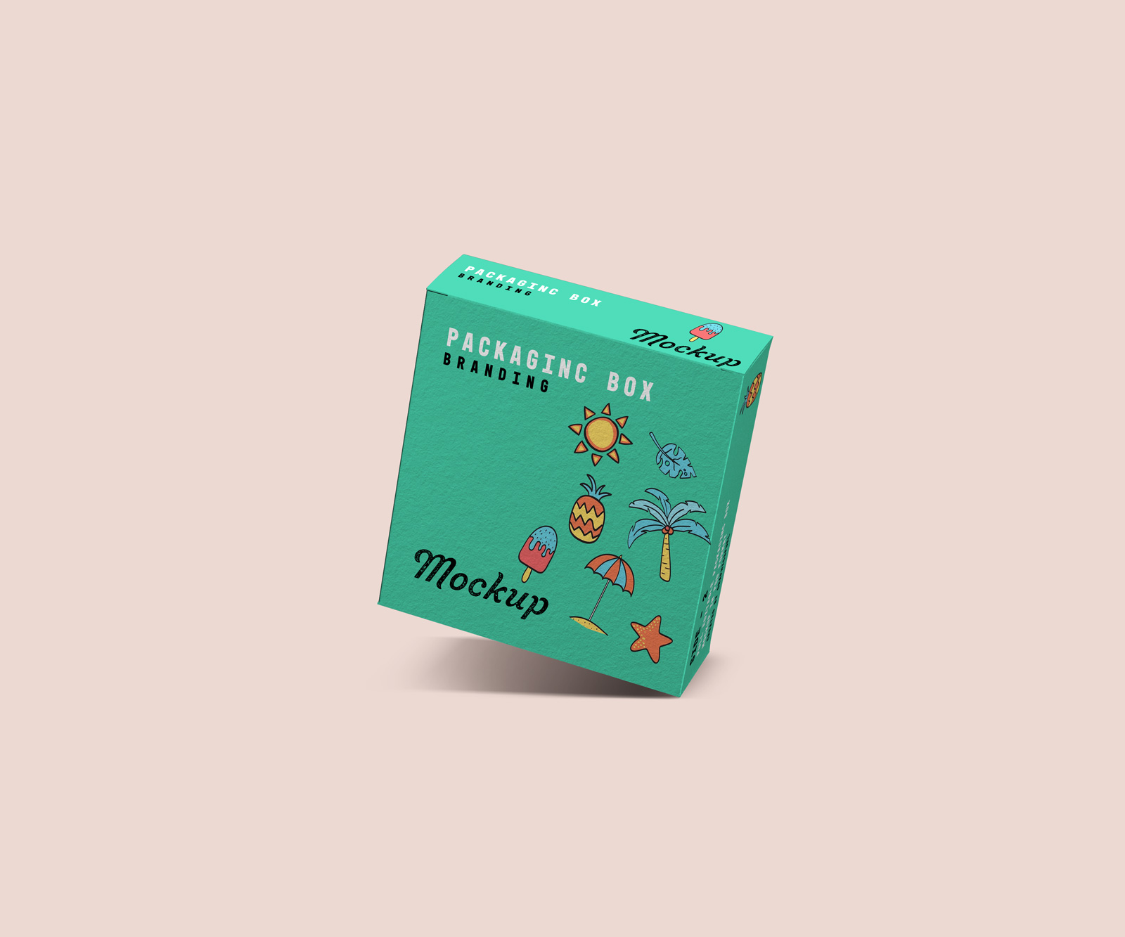Free Square Packaging Box Mockup Templates
