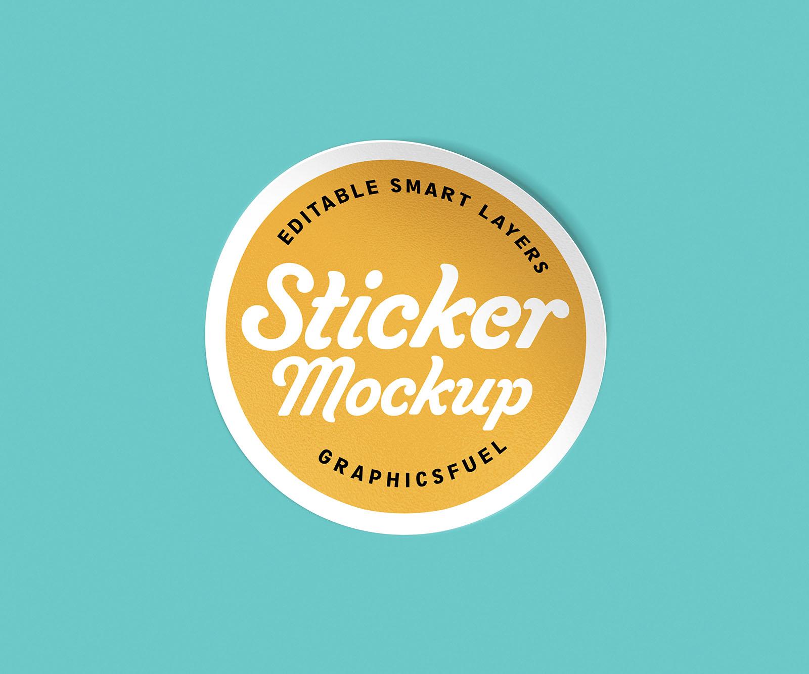 PSD Sticker Mockup Set