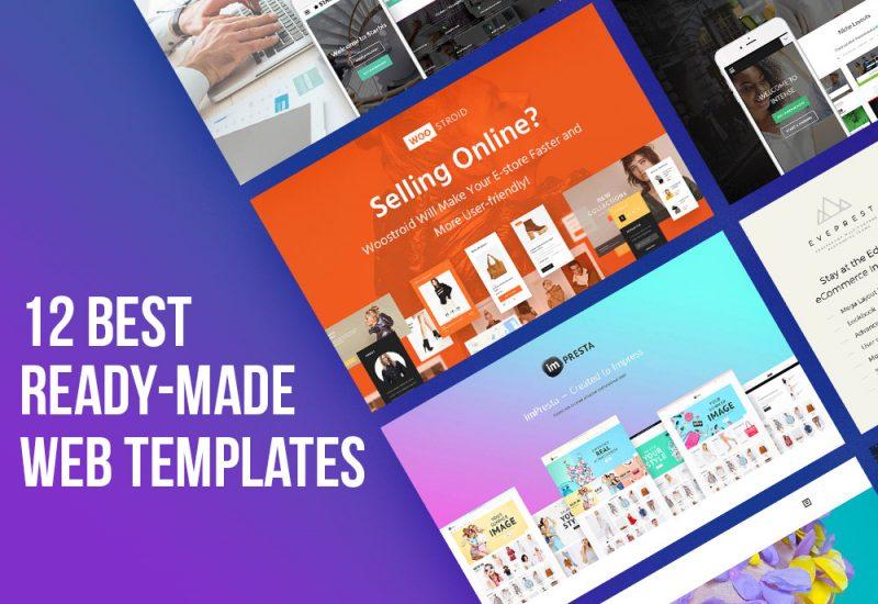 12 Best Readymade Web Templates