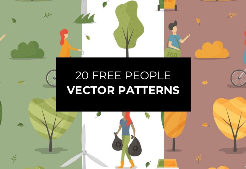 20 Free People Vector Patterns