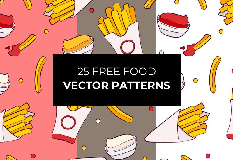25 Free Food Vector Patterns