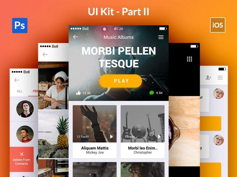 Appify Mobile App UI Kit PSD