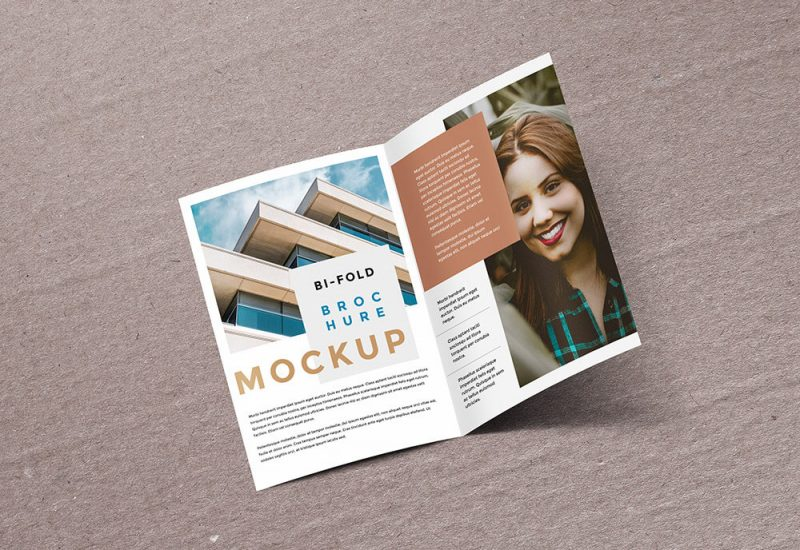 Bifold Brochure Mockup Template