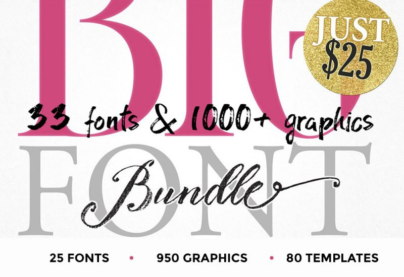 Blessed Print Font & Graphics Bundle