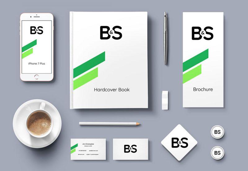 Branding Stationery PSD Mockup