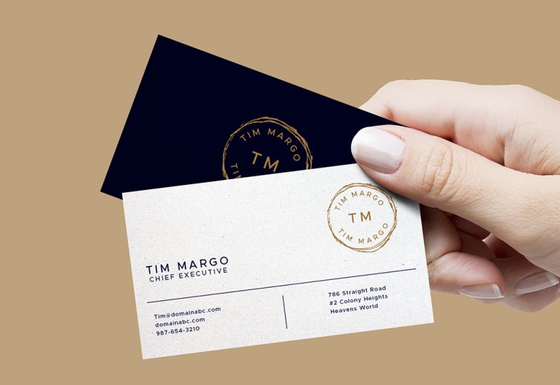 Business Cards In Hand
