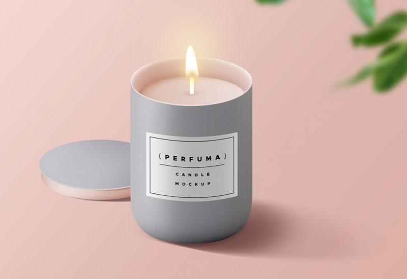 Candle PSD Mockup