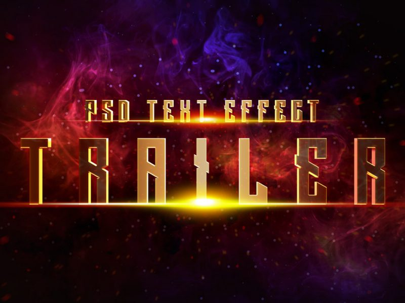 Cinematic Trailer Text Effect PSD