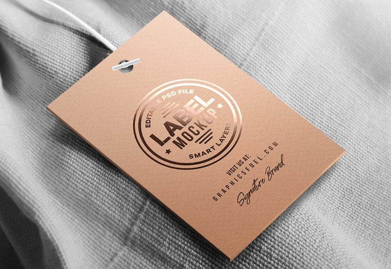 Clothing Tag Mockup PSD