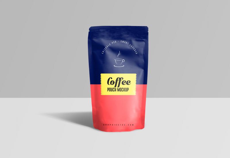 Coffee Pouch PSD Mockup