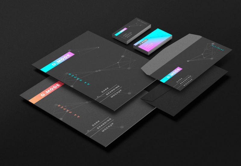Dark Branding PSD Mockup