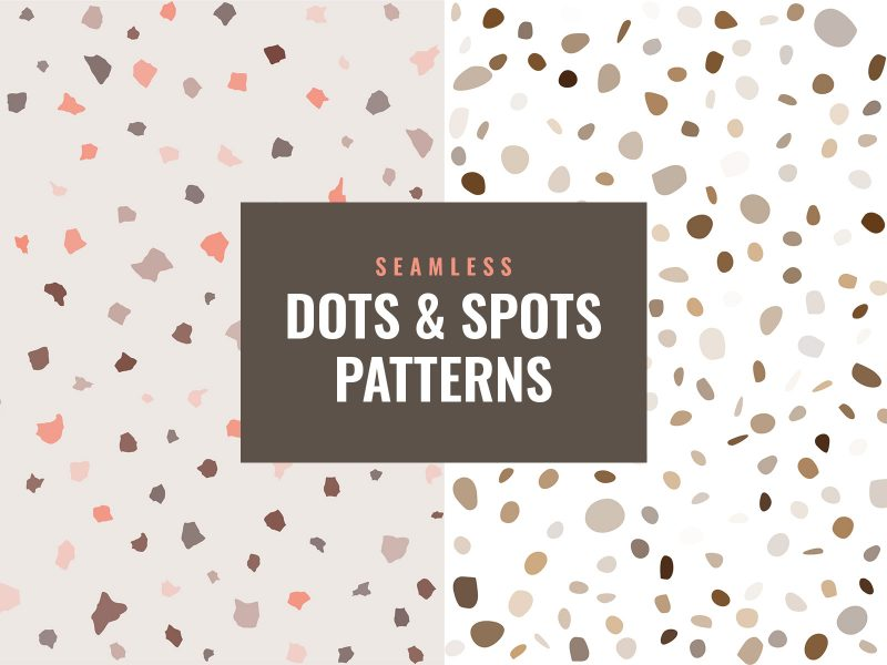 Dots And Sports Seamless Patterns
