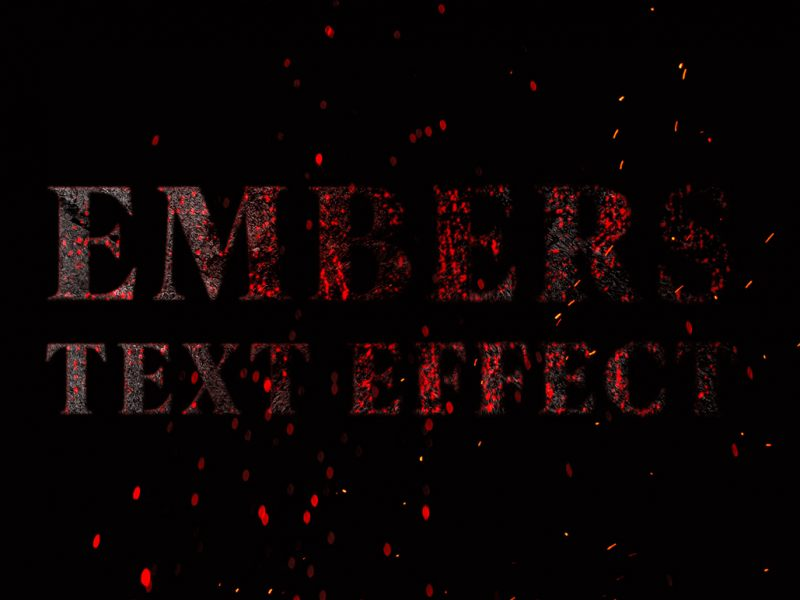 Embers Photoshop Text Effect