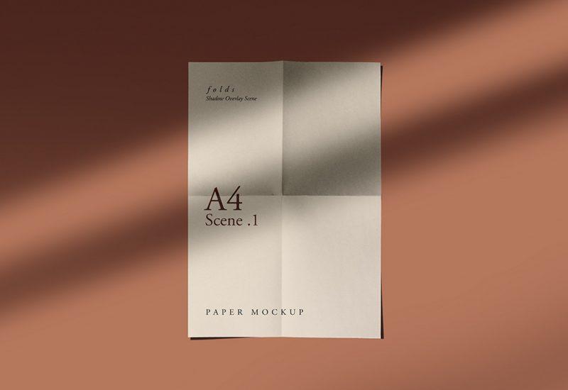 Fold Wrinkle Paper Mockups