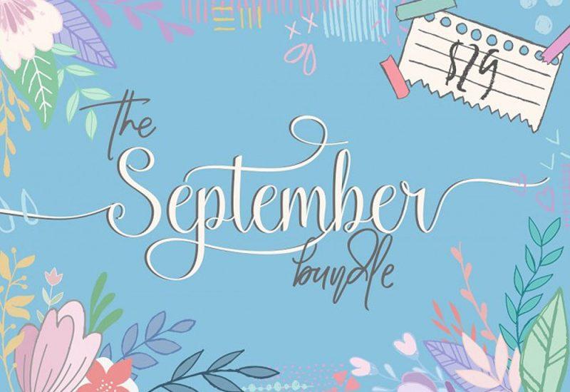 Fonts & Graphics Bundle For September 2016