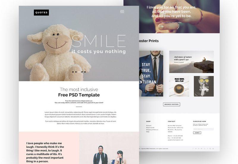 Free PSD Web Template