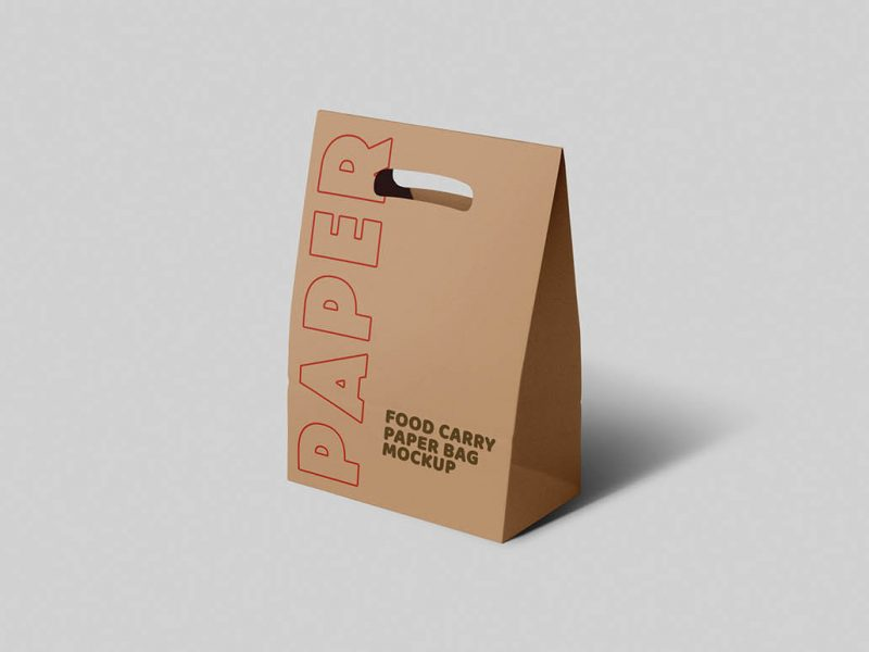 Free Packaging Paper Carry Bag Mockup
