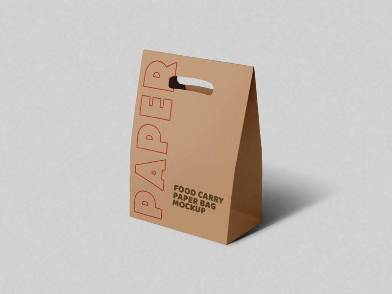 Free Packaging Paper Carry Bag Mockup