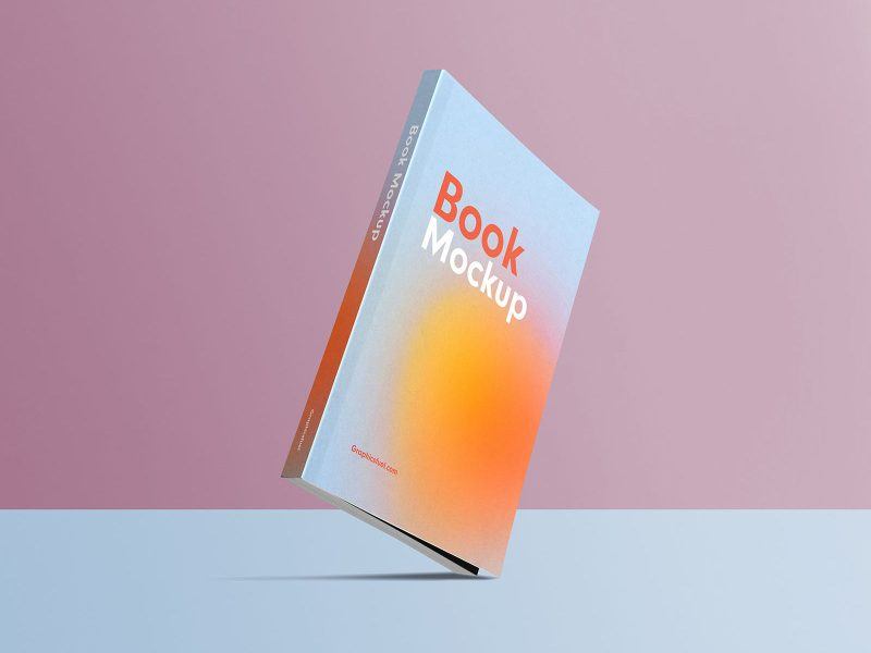 Free Standing Book Mockup PSD Template