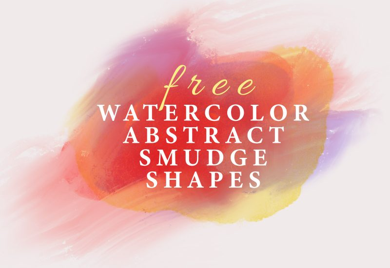 Free Abstract Watercolor Smudge Shapes