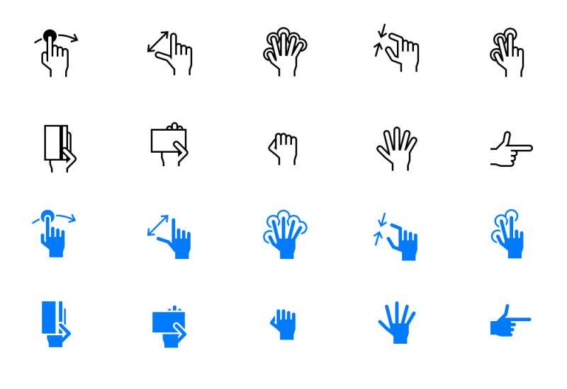 Free iOS Tab Bar Hand Gestures