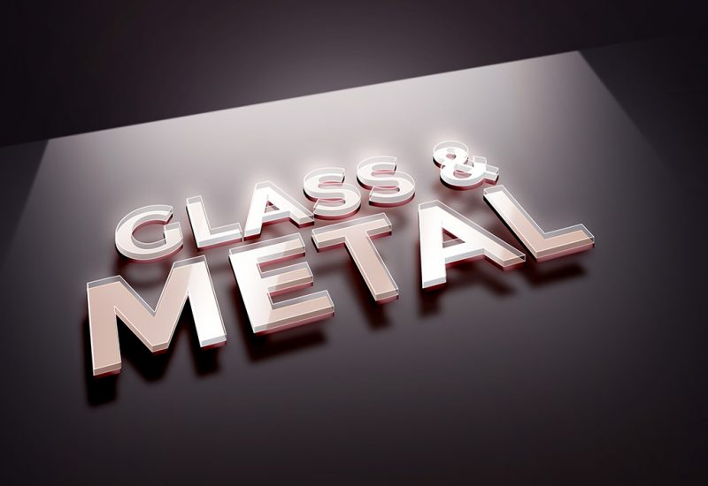 Glass Metal PSD Text Effect