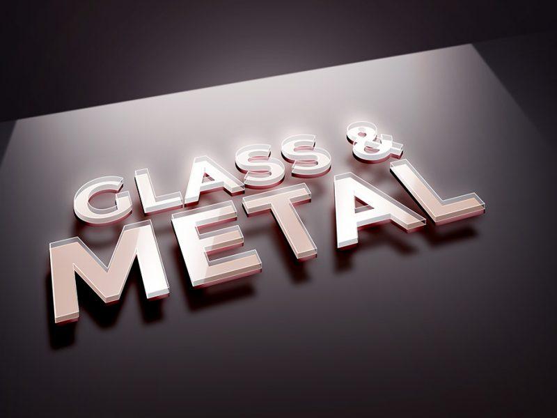 Glass Metal PSD Text Effect