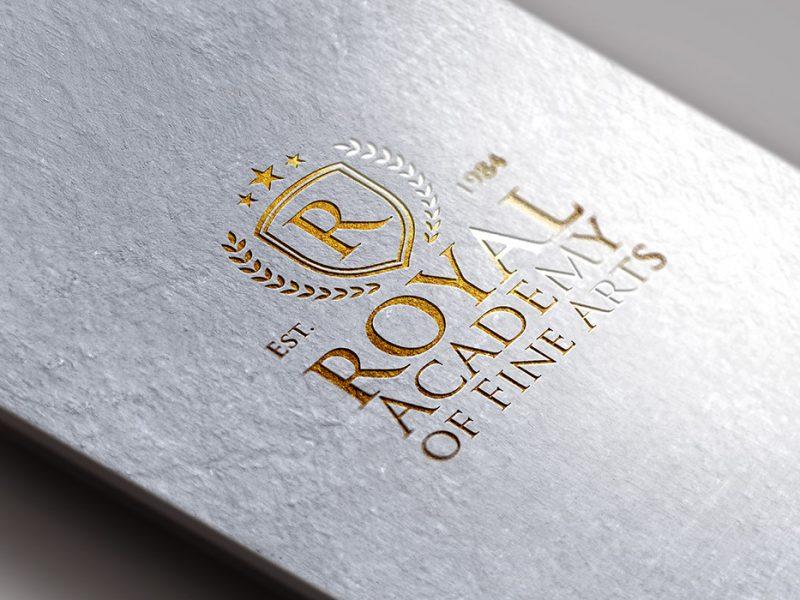 Gold Foil Logo Mockup