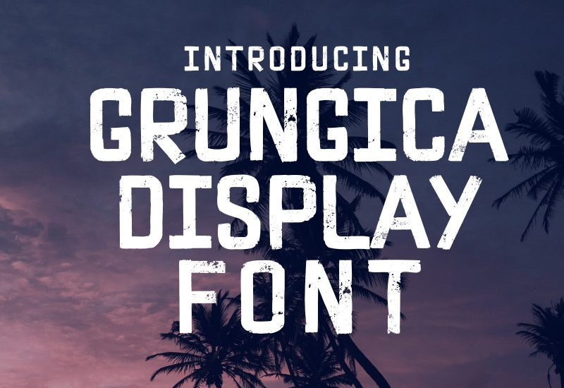 Grungica Display Font