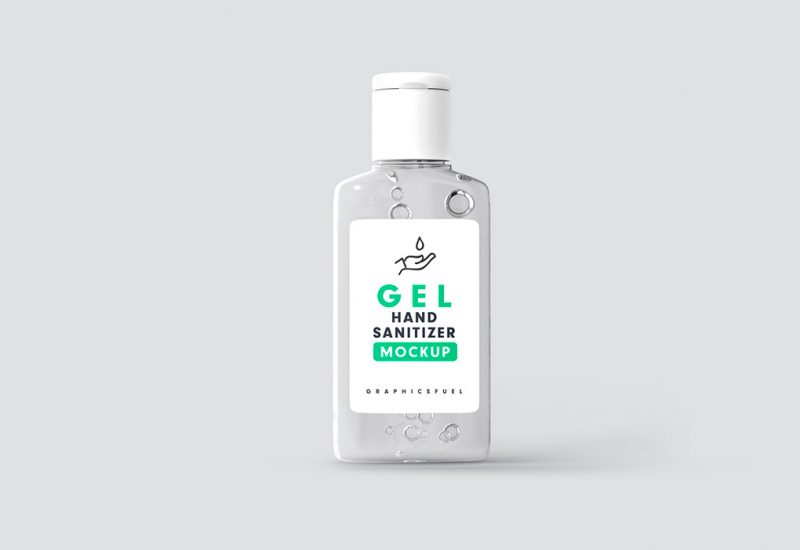 Hand Sanitizer Bottle Mockup PSD Templates