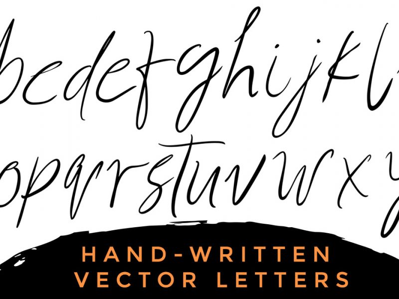 Handwritten Vector Alphabets & Letters