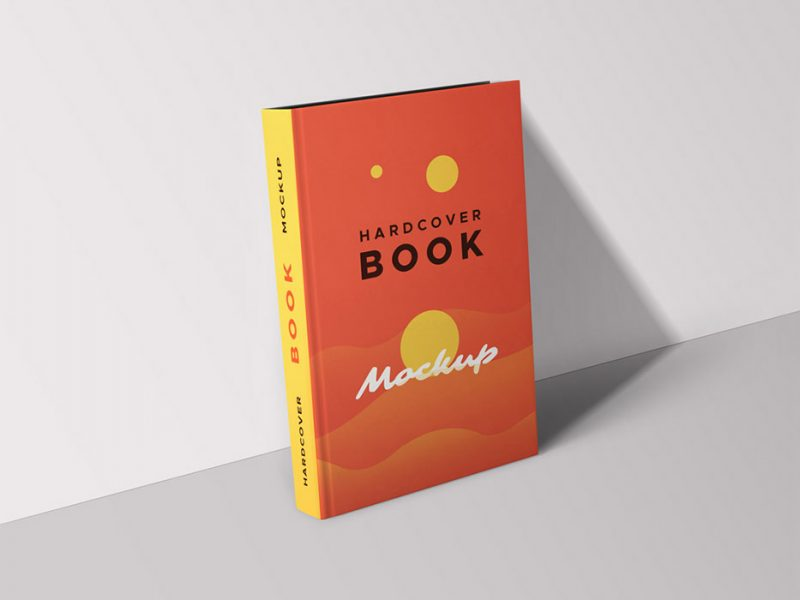 Hardcover Book Mockup PSD Template