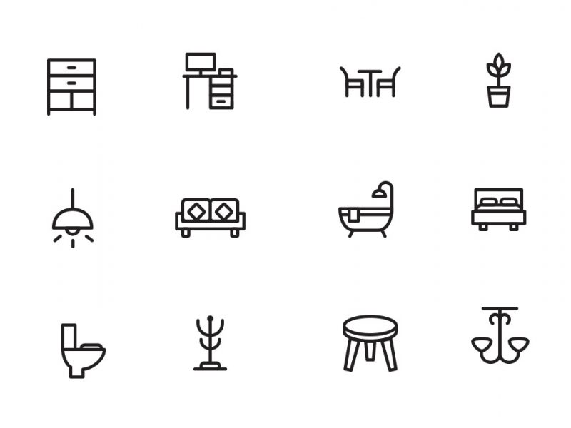 Home Decor & Furniture Icons