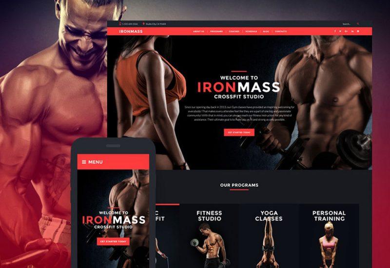 IronMass Sports Wordpress Website