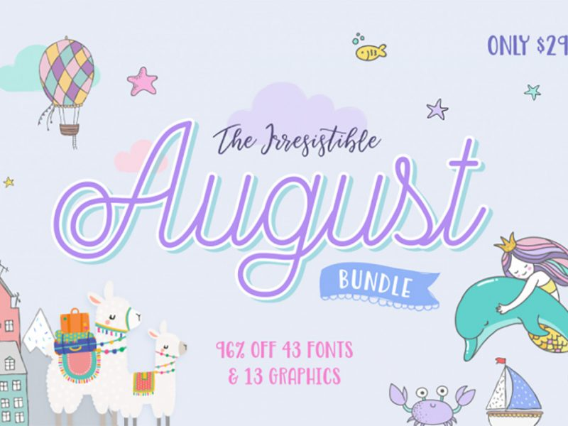 August Fonts & Designs Bundle