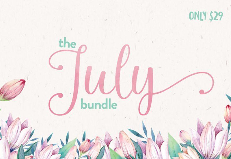 July Font & Design Bundle