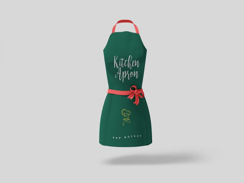 PSD Kitchen Apron Mockup