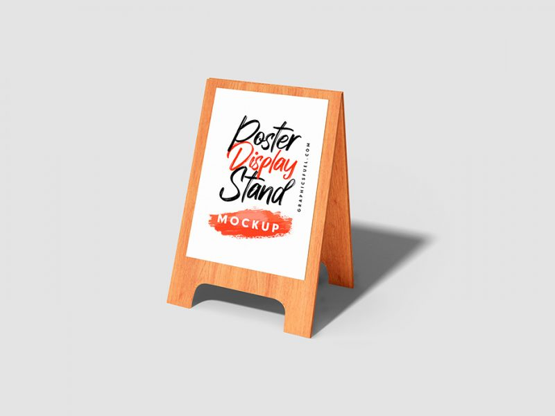 Marketing Poster Display PSD Mockups