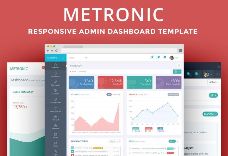 Metronic Admin Dashboard Template