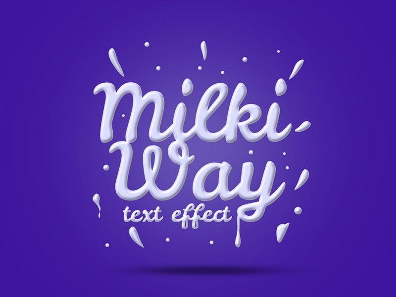 Milk Text Effect