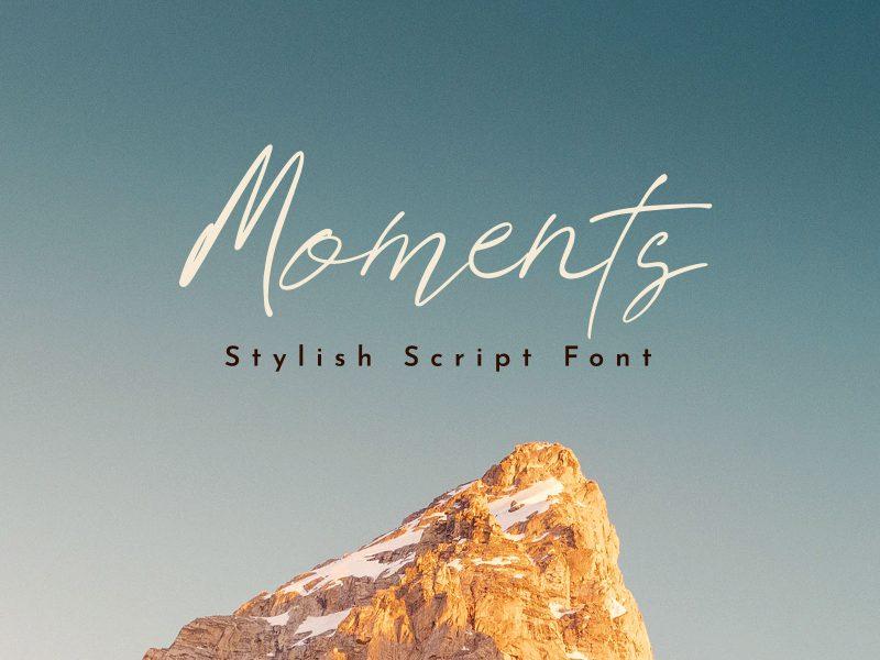 Moments Script Font