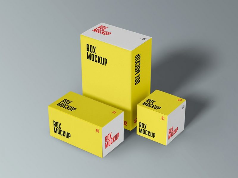 PSD Product Boxes Mockups