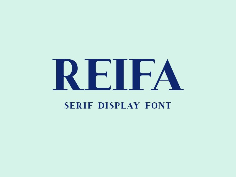 Reifa Serif Display Cap Fonts