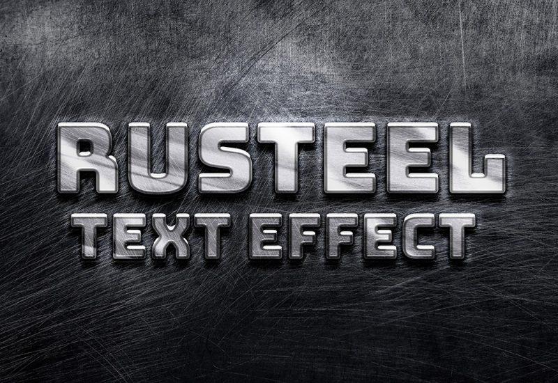 Rusteel Text Effect PSD